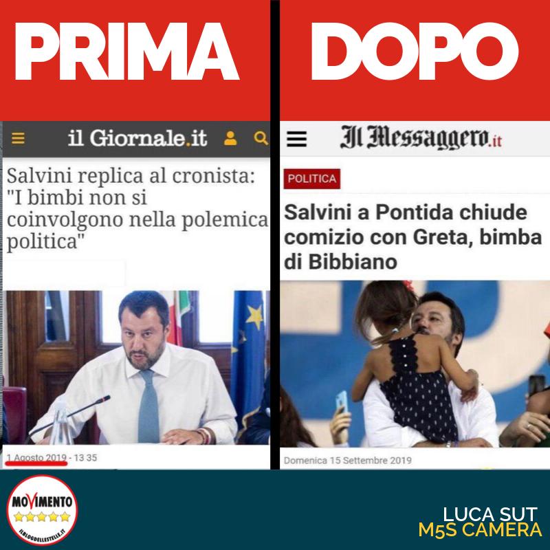 Salvini prima e dopo
