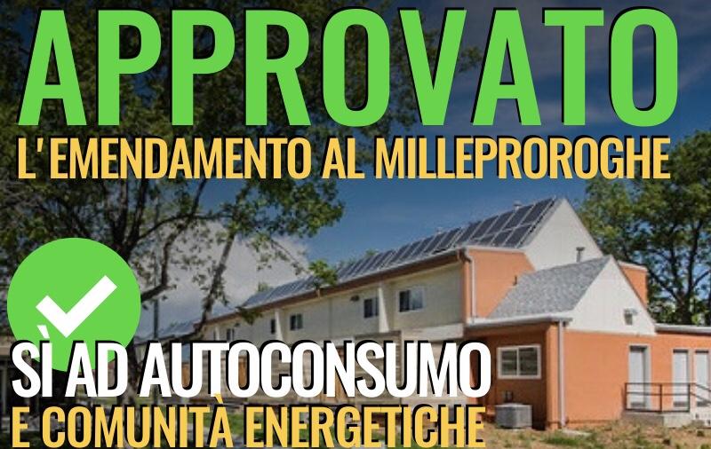 PIU' VICINI AUTOCONSUMO E COMUNITA' ENERGETICHE - m5stelle.com - notizie m5s