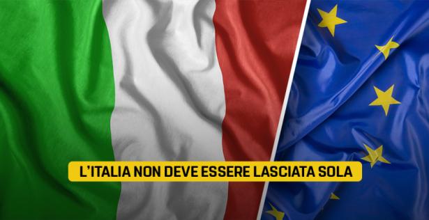 l italia non deve essere lasciata sola